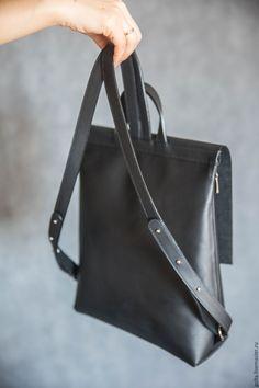 Купить Рюкзак черный - черный, рюкзак, женский рюкзак, городской рюкзак, кожаный рюкзак