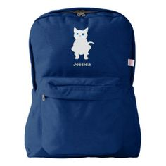 white cat silhouette american apparel™ backpack