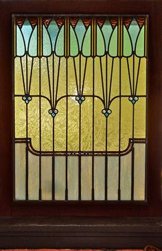 Art Nouveau Stained Glass Window by RadinaGlassStudio on Etsy, $300.00