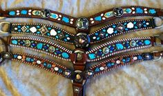 Gorgeous breast collars with stones. If only I could have multiple tack sets!