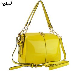 ZIWI Brand New Arrival Bright Solid Patent Bag Trunk Shape Women's Handbag Fashion Bags VK1336