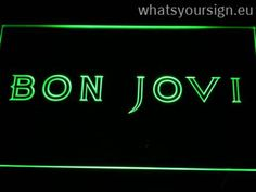 Bon Jovi - LED neon light sign made of the best-quality transparent acrylic and glowing colorful illumination. The neon sign displays exactly the same from all angles thanks to the carving with the latest 3D laser engraving process. This LED neon sign is a great gift idea! The neon is provided with a metal chain for displaying. Available in 3 sizes in following colours: Red, Blue, White, Green, Orange, Yellow and Purple!