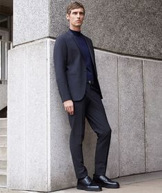 Men's Chunky Soled Derby Shoes Outfit