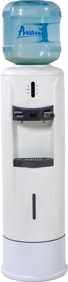 Details About Home Water Cooler Office 2to 5Gallon White Hot N Cold Water  Dispenser W Pedestal
