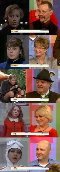 Willy Wonka & the Chocolate Factory characters...then and now.