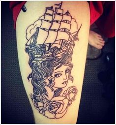 Woman Tattoo - Unique Nautical Tattoo Designs For You...