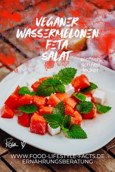 Watermelon Feta Salad Recipes, Watermelon And Feta, My Recipes, Vegan Recipes, Vegan Feta Cheese, Feta Salat, Vegan Vegetarian, Vegan Food, Salad Bowls