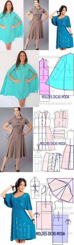 Три платья с выкройками (моделирование)