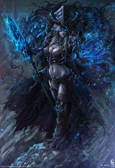 Lich Queen Jaina by GothmarySkold on DeviantArt Fantasy Warrior, Fantasy Rpg, Dark Fantasy Art, Fantasy Artwork, Warcraft Art, World Of Warcraft, Fantasy Women, Fantasy Girl, Fantasy Character Design
