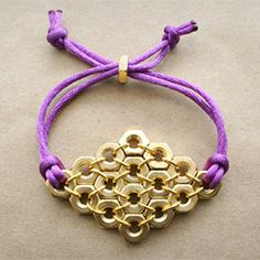 Cute and easy bracelet made from supplies found in a hardware store. Brighten up your accessories with this DIY bracelet tutorial.