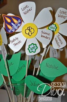 Create Investiture Ceremony Flowers - cute Idea for an invitation