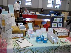 my i heart crafts table by you can count on me, via Flickr