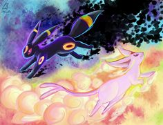Daybreak Nightfall by OnixTymime ... umbreon, espeon, pokemon