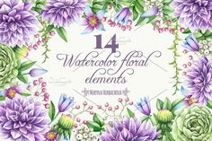 Watercolor DIY elements. Clipart by Maryna on @creativemarket