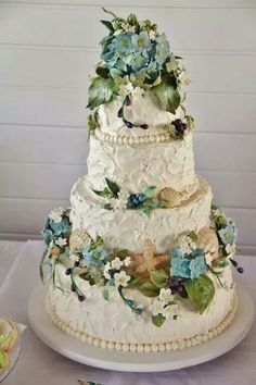 Beautiful Beach Wedding Cake......