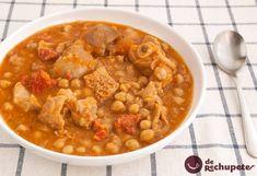 Callos a la gallega. Receta de la abuela Tripe Recipes, Meat Recipes, Cooking Recipes, Spanish Kitchen, Spanish Food, Banana Colada, A Food, Food And Drink, Bisque Soup