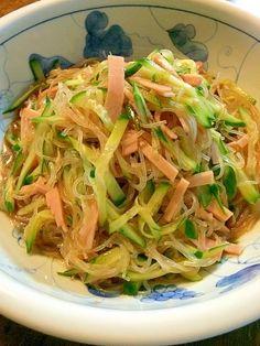 「定番☆春雨サラダ」ツルツル、みんな大好きサラダです(^o^)【楽天レシピ】