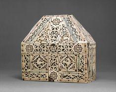 Bursa Reliquary Date: 10th century Culture: North Italian Medium: Bone, copper-gilt, wood Dimensions: Overall: 7 3/4 x 7 5/16 x 3 1/4in. (19.7 x 18.6 x 8.3cm)