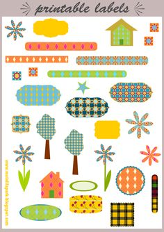 Free printable labels and scrapbooking embellishment - ausdruckbare Etiketten - freebie | MeinLilaPark – digital freebies