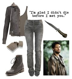 """Ellie Winchester- Supernatural OC #17"" by mademoisllea ❤ liked on Polyvore featuring James Perse, S.W.O.R.D., Steve Madden and Balmain"