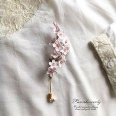 抽選販売のご案内です。今回は桜の一枝のピンブローチのみで、5点ご用意いたしました。受付期間は24時間と短くなっております。お気をつけくださいませ。長くなってしまい申し訳ありませんが、最後までお読みいただいてお申し込みくださいませ。桜の一枝を