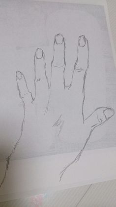 My left hand made by many lines have hesitation.