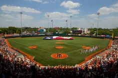 UFCU Disch-Falk Field - Home of the Texas Longhorns.  The Mountaineers took the series 2-1 at Texas.