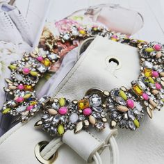 Statement necklace, pink necklace, beautiful necklace, spring design www.ninojewelry.hu
