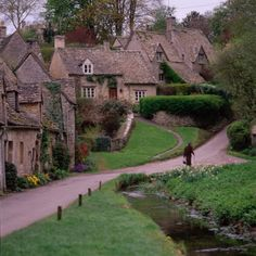English cottages. Peaceful and serene.