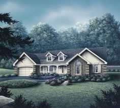 Eplans Country House Plan - Home Filled with Natural Light - 1791 Square Feet and 4 Bedrooms from Eplans - House Plan Code HWEPL14989