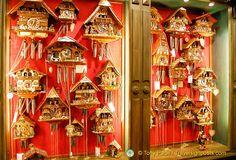 Christmas cuckoo clocks at Käthe Wohlfahrt – the famous Christmas Shop in Heidelberg