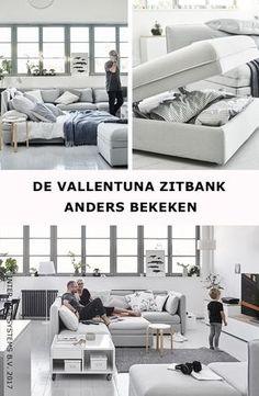 Verander de dynamiek in je woonkamer met onze VALLENTUNA zitbank! Van een luxe thuisbioscoop tot een uitnodigend hoekje om je lekker te nestelen, ontdek onze woonideeën in één sofa! VALLENTUNA 6-zits hoekbank, 1.815,-/st. #IKEABE #IKEAidee A sofa is more than just a sofa! From a home cinema hang-out to a nest to curl up in, discover our ideas to live with one sofa! VALLENTUNA Sleeper sectional, 5-seat corner, 1.815,-/pce. #IKEABE #IKEAidea