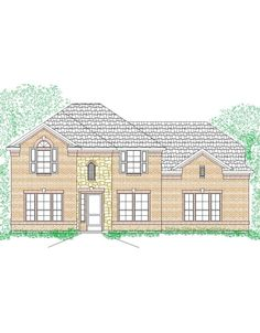 COUNTRY COTTAGE FRONT ELEVATION HOUSE PLAN 2378 206 HS country