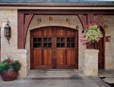 beautiful 'carriage' garage doors...omg this is what i am having in my home some day! perfect!