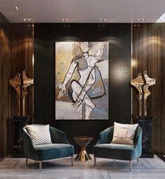 Lobby Interior, Office Interior Design, Luxury Interior Design, Contemporary Interior, Interior Design Living Room, Living Room Designs, Living Room Decor, Interior Shop, Interior Stairs