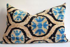 Sukan / Sale  Silk Velvet Ikat Pillow Covers  Lumbar by sukan, $69.95