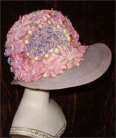 1920s Flowered Cloche Hat   Rue de la Paix