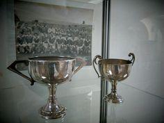 Kickham Cup trophy's, Arnotts Museum. Henry Street. Dublin. Dublin, Fountain, Barware, Museum, Street, Water Fountains, Museums, Walkway, Tumbler