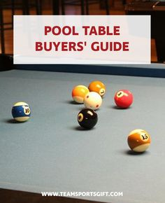 Pool Table Buyers' Guide  If you are in the market for a pool table, you might imagine walking into a warehouse, pointing to one you like, and taking it home. But buying a pool table may be trickier than you think. They may all look the same, but there are subtle differences that you may not pick up on that may influence how good of a pool player you are. Check out our website for our full catalog.