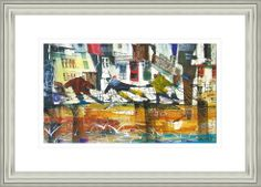 'It's Windy Today' by Sue Howells.  High Quality Reproduction Framed Print finished with glass panel & expertly framed by Spires Art framing team. Size: 14in X 18in
