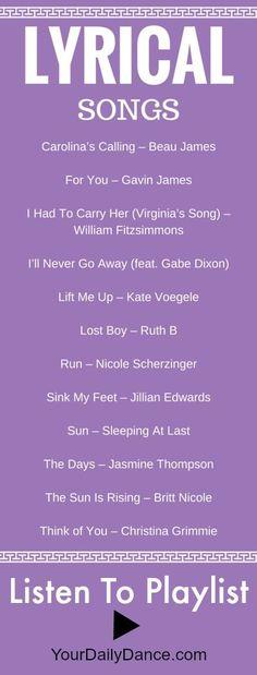 Lyrical songs for dance...