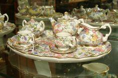 I love miniature tea sets and I have too many of them...♥