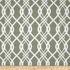 Swavelle/Mill Creek Indoor/Outdoor Hedda Spruce from @fabricdotcom  From Swavelle/Mill Creek, this great outdoor fabric is stain and water resistant, perfect for outdoor settings and indoors in sunny rooms.