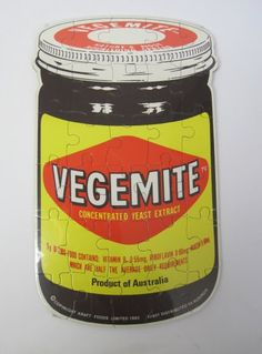 Vintage 1980s Sealed Kitsch Novelty Vegemite Jigsaw Puzzle available to buy online at Virtual Vintage Clothing