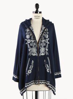Lili Asymmetrical Tunic Hoodie - Plus Size - Clothing