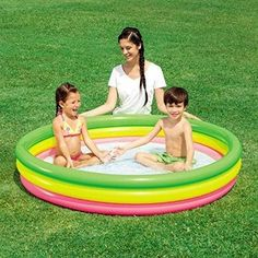 Above Ground Swimming Pool Inflatable kids Baby Garden Outdoor Yard Summer Water Oberirdische Pools, Kid Pool, Above Ground Swimming Pools, Pool Equipment, Summer Pool, Pool Toys, Pool Cleaning, Water Sports, Outdoor Gardens