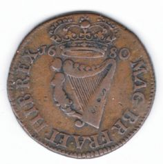 1680 Armstrong & Legge's Regal Coinage - Large letters, Harp of 17 Strings, Large Letters, Harp, Personalized Items, Big Letters