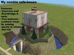 this is exactly what I had envisioned for a zombie apocalypse safety house, right, @Melanie Inoncillo? i didn't think about the hot tub on the roof though but I'll take it. :)