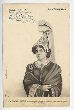 14-NORMANDIE-Types-et-Costumes-Coiffes-dhier