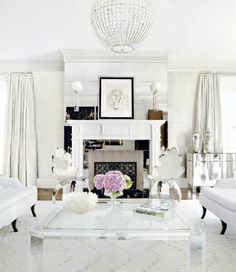 . white living room